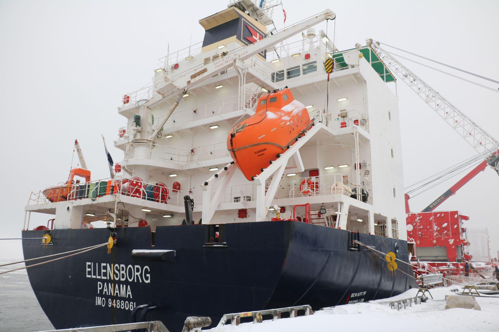 Ellensborg_1er-navire-2019-Port-Trois-Rivières