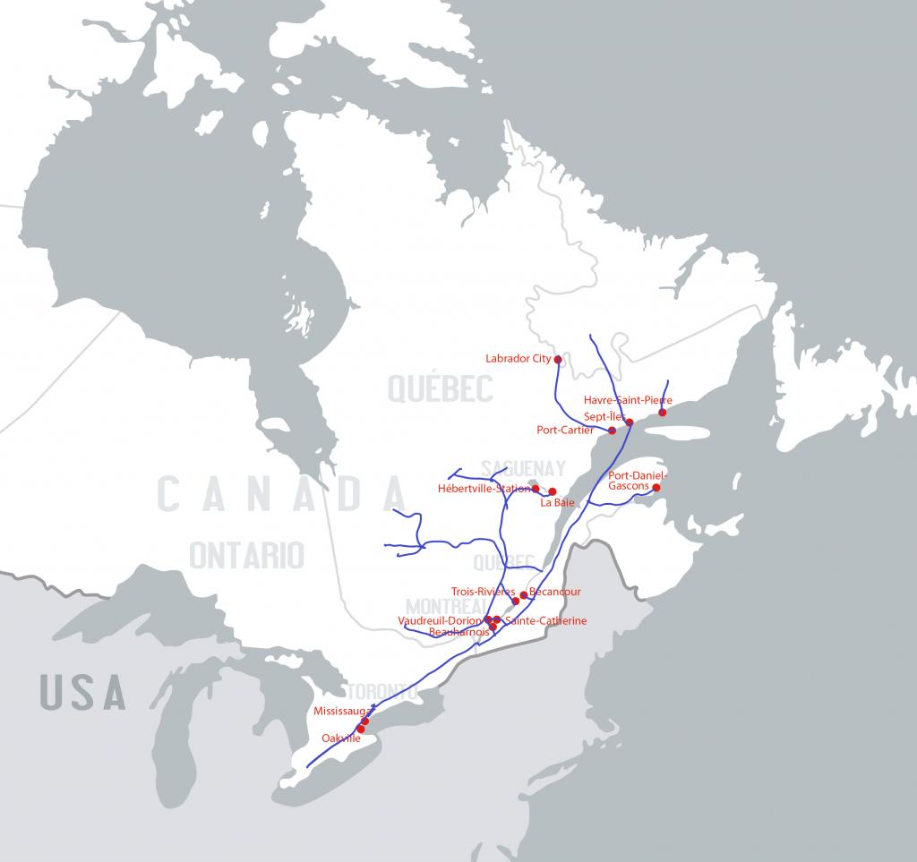 Carte des réseaux ferroviaires - Groupe Somavrac